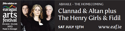 Earagail Arts Festival - Abhaile The Homecoming Sat July 13th